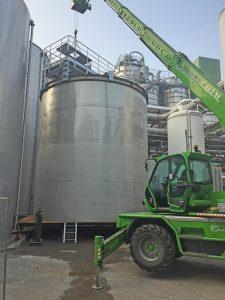 Posizionamento serbatoi industriali | COIM Srl